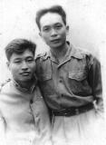 Ông Độ, ông Văn ngày ở Việt Bắc 1948.
